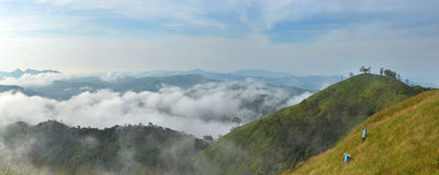White Elephant Mountain. Is a tourist attraction of thong pha phum national park. Kanchanaburi, Thailand Stock Images
