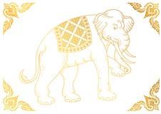 White Elephant outline thai tradition Stock Photo