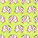 White elephant pattern background Royalty Free Stock Photos