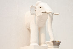 White Elephant in side of pagoda. White elephant  in the north of thailand Royalty Free Stock Images