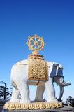 White elephant statue Stock Image