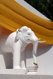 White elephant statue in chiang mai Stock Photos