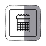 White emblem calendar icon Stock Photos