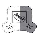White emblem hot dog fast food icon Royalty Free Stock Photography