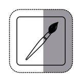 white emblem paint brush icon Stock Images