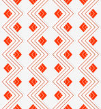 White embossed zigzag with red lines Royalty Free Stock Photo