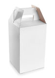 White empty box with handle Royalty Free Stock Photo