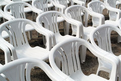 White empty chairs Stock Image