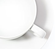 White empty cup Royalty Free Stock Photos