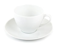 White empty cup Royalty Free Stock Images