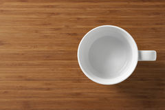 White empty cup  Stock Photos