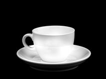White empty cup isolated Stock Photo