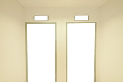 White empty door Stock Images