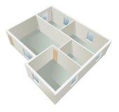 White empty flat planning  Stock Photography