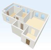 White empty flat planning  Stock Photo