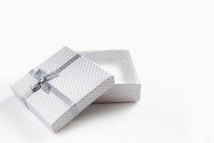 White empty gift box isolated Stock Photos