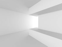 White empty interior. Abstract architecture background Stock Image