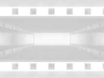 White empty interior. Abstract architecture background. 3d render illustration Royalty Free Stock Image