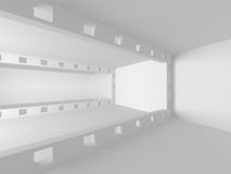 White empty interior. Abstract architecture background. 3d render illustration Royalty Free Stock Photography