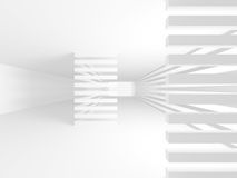 White empty interior. Abstract architecture background. 3d render illustration Royalty Free Stock Photos