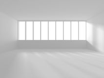 White empty interior. Abstract architecture background. 3d render illustration Stock Photography