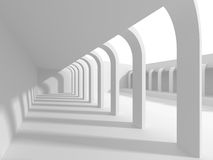 White empty interior. Abstract architecture background. 3d render illustration Stock Photo