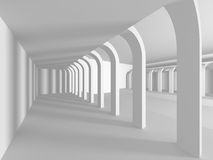 White empty interior. Abstract architecture background. 3d render illustration Stock Photos