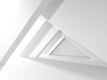 White empty interior. Abstract architecture background Royalty Free Stock Photography
