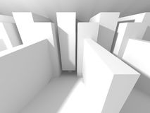 White empty interior. Abstract architecture background Stock Photo