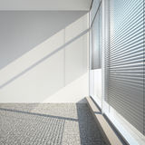 White empty interior with blinds Stock Images