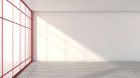 White empty interior with a large window Royalty Free Stock Photography
