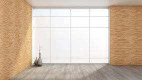White empty interior with a large window Stock Photos