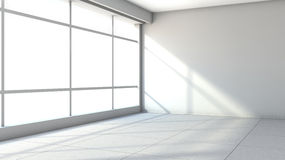White empty interior with large window.  Royalty Free Stock Photos