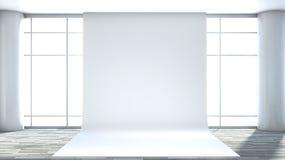 White empty interior with large window Stock Image