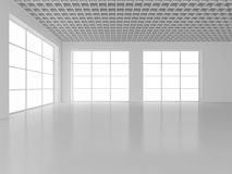 White empty interior with window. 3d rendering. White empty interior with window. 3d rendering Royalty Free Stock Image