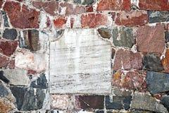 White empty label stone Stock Photos