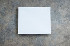 White empty packing cardboard box Stock Image