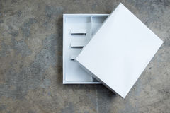 White empty packing cardboard box Royalty Free Stock Images