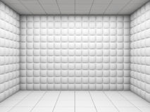 White empty padded room royalty free illustration
