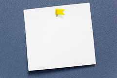 White empty paper note stick Royalty Free Stock Photography
