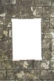 White empty placard Royalty Free Stock Photo