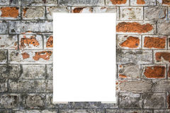 White empty placard Stock Images