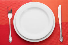 White empty plate Stock Photography