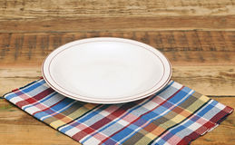 White empty plate Stock Image