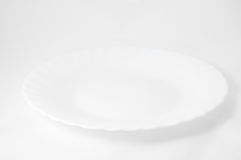 White empty plate Stock Images