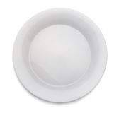 White Empty Plate Royalty Free Stock Image