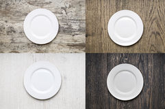White Empty plate Royalty Free Stock Photography