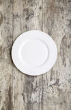 White Empty plate Royalty Free Stock Images