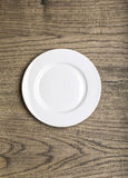 White Empty plate Stock Photos