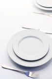 White empty plates Stock Image